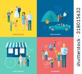family design concept set with...   Shutterstock . vector #318015632