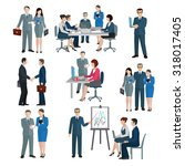 office worker workgroup... | Shutterstock . vector #318017405