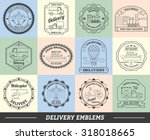 delivery emblems commercial... | Shutterstock . vector #318018665