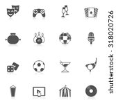 entertainment and leisure icons ... | Shutterstock . vector #318020726