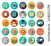 set of flat design icons with... | Shutterstock . vector #318021158