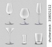 empty alcohol drinks glassware... | Shutterstock . vector #318021212