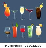 alcohol drinks and cocktails in ... | Shutterstock . vector #318022292