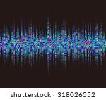 music square waveform... | Shutterstock .eps vector #318026552