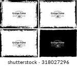 grunge frame texture set  ... | Shutterstock .eps vector #318027296