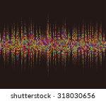 round waveform background.... | Shutterstock .eps vector #318030656