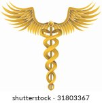 caduceus gold | Shutterstock .eps vector #31803367