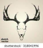deer skull vector isolated