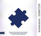 puzzle vector icon   Shutterstock .eps vector #318067235