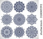 mandalas. vintage decorative... | Shutterstock .eps vector #318085592