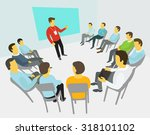 group of business people having ... | Shutterstock .eps vector #318101102