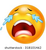 a sad crying emoticon smiley...