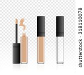 cosmetic concealer glass cream... | Shutterstock .eps vector #318110078