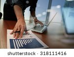 business documents on office... | Shutterstock . vector #318111416