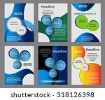 flyer template vector set  | Shutterstock .eps vector #318126398