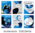 set of flyer template  | Shutterstock .eps vector #318126416