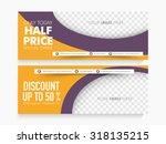 half price sale website header...   Shutterstock .eps vector #318135215