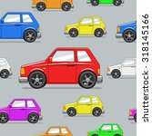 seamless pattern toy car raster ... | Shutterstock . vector #318145166
