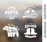 logo vintage outdoor theme ...   Shutterstock .eps vector #318159332