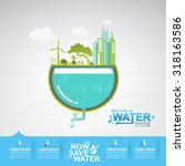 ecology save the water vector... | Shutterstock .eps vector #318163586