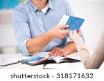 close up photo of male travel...   Shutterstock . vector #318171632