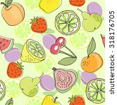 seamless color fruit pattern... | Shutterstock .eps vector #318176705