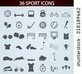 sport icons set for design | Shutterstock .eps vector #318189662
