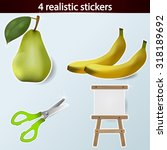 four realistic stickers