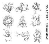 Christmas Hand Drawn Icon Set...