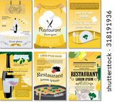 restaurant poster design set  ... | Shutterstock .eps vector #318191936