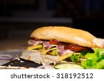 huge sandwich stuffed with... | Shutterstock . vector #318192512