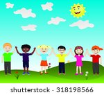 joyful children | Shutterstock .eps vector #318198566