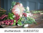 florist workplace  flowers and... | Shutterstock . vector #318210722
