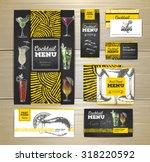 cocktail menu document template.... | Shutterstock .eps vector #318220592
