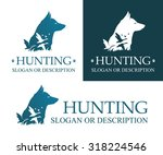 image of hunting dog and ducks... | Shutterstock .eps vector #318224546