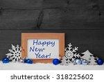 blue gray christmas decoration...   Shutterstock . vector #318225602