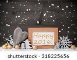golden christmas decoration on...   Shutterstock . vector #318225656