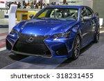 frankfurt   sept 16  lexus gs f ... | Shutterstock . vector #318231455