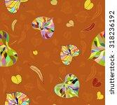 leaves background   Shutterstock .eps vector #318236192
