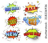 set of pop art comic sale... | Shutterstock .eps vector #318236936