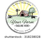 round vintage style farm logo | Shutterstock .eps vector #318238028