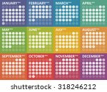 simple colorful calendar for... | Shutterstock .eps vector #318246212