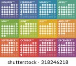 simple colorful calendar for...   Shutterstock .eps vector #318246218
