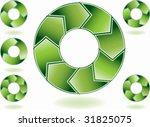 process charts green | Shutterstock .eps vector #31825075