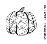 squash illustrated in doodle... | Shutterstock .eps vector #318257786