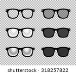 eye glasses set   sunglasses... | Shutterstock .eps vector #318257822