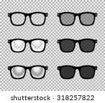 eye glasses set   sunglasses... | Shutterstock .eps vector #318257822
