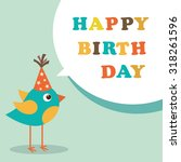 happy birthday card | Shutterstock .eps vector #318261596