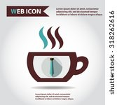 cup web icon with vapor  flat ...
