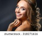 studio shot of a beautiful... | Shutterstock . vector #318271616